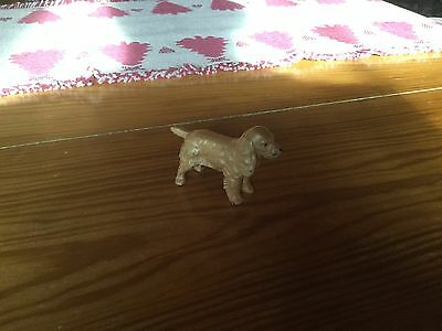Vintage Collectible Cocker Spaniel Dog Standing METAL Figurine very old painted