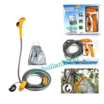 Auto12V Portable Camping Shower Hiking Camping Travel Outdoor Pet Shower Pump