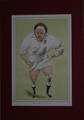 BILL BEAUMONT, ENGLAND RUGBY PRINT by JOHN IRELAND