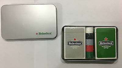 Heineken playing cards and poker chips