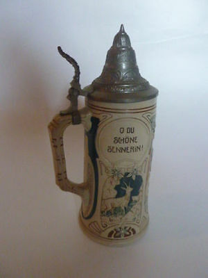 WW1 German Chevaulegers Regiment 5 Esk Taxis Dillingen Beer stein mug 1914 1918