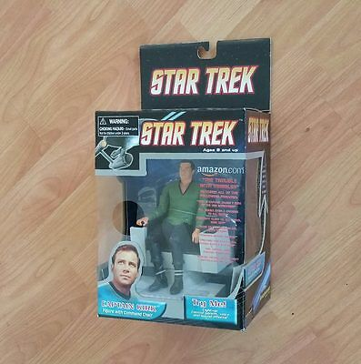 Star Trek CAPTAIN KIRK with Talking COMMAND CHAIR Exclusive TRIBBLES