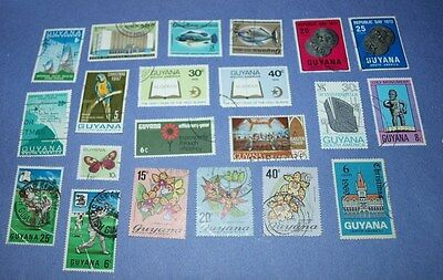 21 stamps of Guyana south africa
