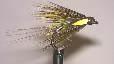 3 UV Olive Dabbler Size 12 Fly Fishing Trout Flies