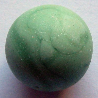 Rare Beach Sea Glass Marble Opaque Green 1 Pc Authentic Surf Tumbled Collectible