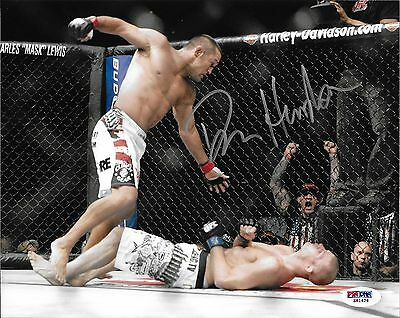 Dan Henderson Signed 8x10 Photo PSA/DNA COA UFC 100 H-Bomb Bisping KO Picture