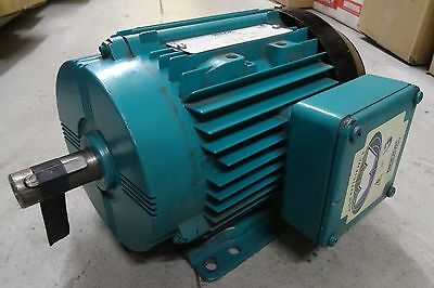 NEW Brook Crompton 3 Phase Motor 230/460V 1HP 1150RPM