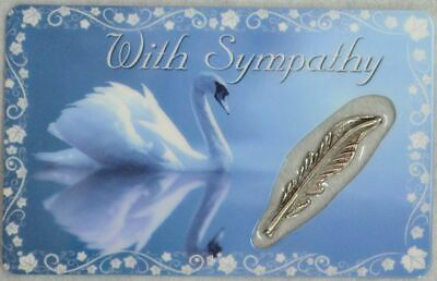 WITH SYMPATHY, Inspirational Card & Heart Charm, 54mm x 85mm, Inspirational Gift