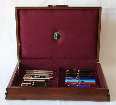 Fountain Pen Chest, #513, Vintage, Hand-Crafted, Holds 22 Pens, Solid Wood, Usa