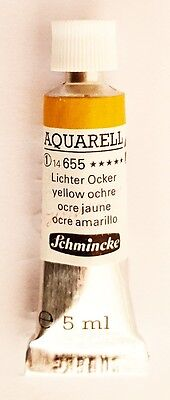 Schmincke 5Ml Watercolour Tube Yellow Ochre Series 1 Duckpond Discounts
