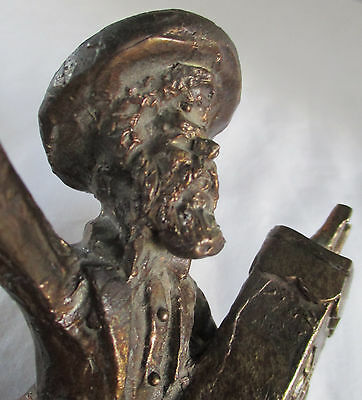 "Limited Edition Zachary Oxman Signed Numbered ""torah Dance"" Bronze Mezuzah"