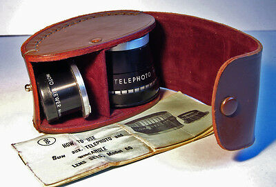 Telephoto Lens For Rolleiflex Twin Lens Reflex 3.5F With Leather Case.Rare Item.
