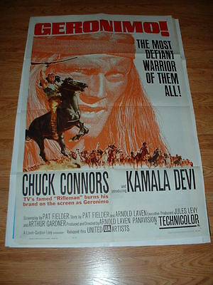 Geronimo-Connors-1962 One Sheet