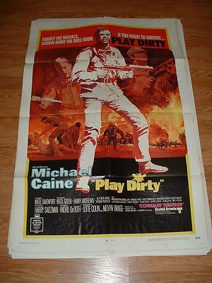 Play Dirty- Caine-1969     One Sheet