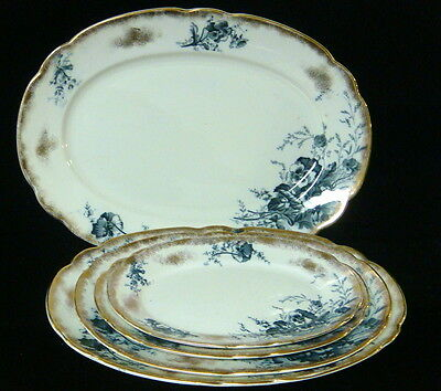 """Antique S Hancock & Sons English Asst'd """"Pansy"""" Pattern Platters - Pick Your Own"""
