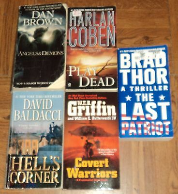 """THRILLER"" OVERSIZED PAPERBACK COLLECTION - Lot of 5 - Great Reading!!"
