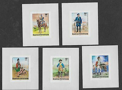 Central Africa , Us Bicentennial, 1976 , Set Of 5 S/s Imperf , Mnh , Rare