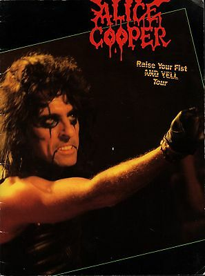 Alice Cooper 1987  Raise Your Fist And Yell Tour Concert Program Book