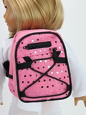"Pink Sequin Backpack Fits 18"" American Girl Doll Clothes"