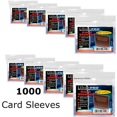 1000 Ultra Pro Soft Trading Card Sleeves Protection Pokemon/MTG Prot