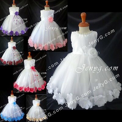 MF7 Baby Girls Christening Baptism First Holy Communion Church Formal Gown Dress