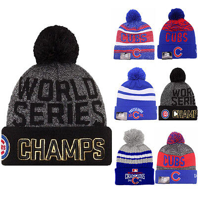 Official Chicago Cubs 2016 World Series Champions Knit Hat Beanie Cap 47 Brand