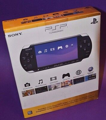 Sony PSP 3000 Piano Black Handheld System New In Sealed Box