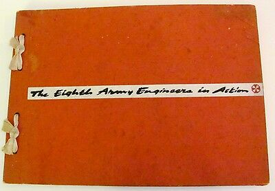 VTG BOOK The Eighth Army Engineers in Action Portfolio of Sketches 1945-46 WWII