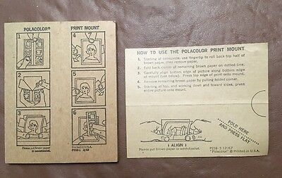 Vintage LOT Of 9 1960'S POLAROID CAMERA CO ADVERTISING INSTRUCTIONS CARDS