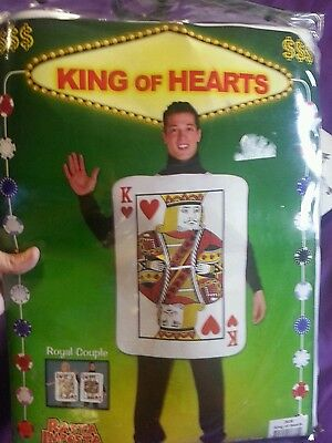 Adult King Of Hearts Card Costume Halloween One Size Fits Most Rasta Imposta