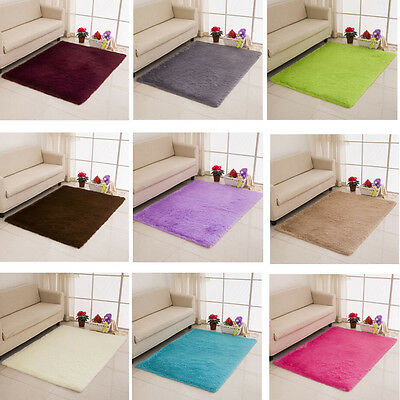 50X80cm Fur Rug Kids Playroom Small Blanket Carpet Floorcloth Foot Pad Door Mat