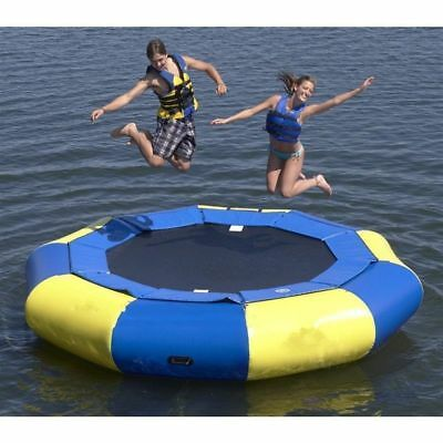 3-5M Diameter Inflatable Water Trampoline Bounce Swim Platform Lake Toy+blower
