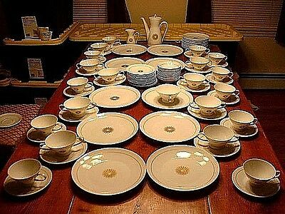 "82 Piece Rosenthal Porcelain  ""Star Of Dawn""  Service Designed By Raymond Loewy"