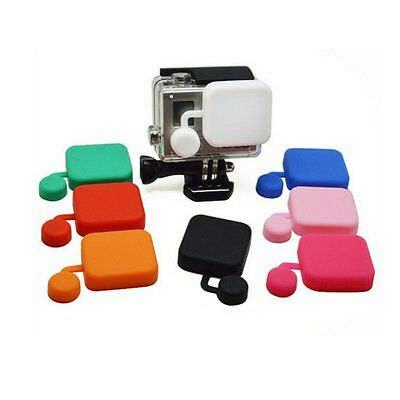 Soft Silicone Protective Lens Cap Housing Case Cover Skin for GoPro Hero 3+ 4