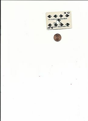 101 Ranch Real Wild West Show Shot Souvenir Playing Card - Indian Territory