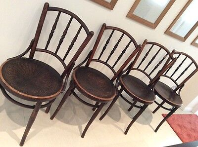 Antique Bentwood dining chairs set of four