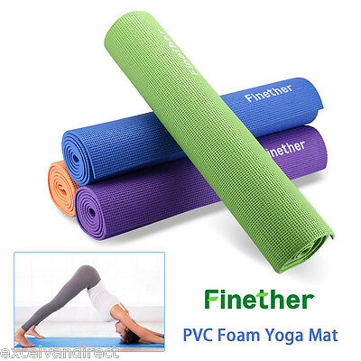 6mm PVC Yoga Mat Thick Exercise Fitness Physio Pilates Gym Mats Blue