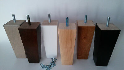4 x WOODEN FURNITURE FEET/LEGS -14cm HIGHT-FOR SOFA, CHAIRS, STOOLS,CHEST-M8/M10