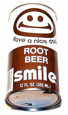 Smile Have A Nice Day Root Beer Pull Top Soda Pop Can A1+ Flat Pre Zip NoRskOfr