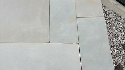 SILVER DUNE GREY Smooth Honed Sawn Indian Sandstone Paving 600 Pack 19.50 m2