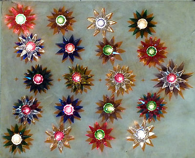 *** 20 Old Matchless Star Xmas Lights - Original around 1930 *** working ~