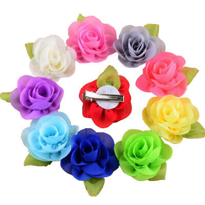 1/30pcs Baby Girls Chiffon Flower Hair Clip Girls Toddler Babies Hairpin Lot