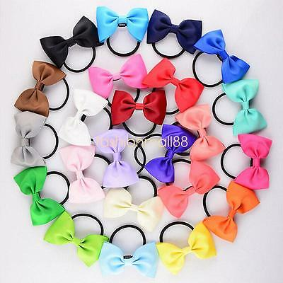 24PCS Baby Girls Hairband Toddler Hair Bow Band Grosgrain Ribbon Accessories Lot