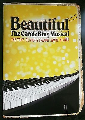 Beautiful - the Carole King Musical theatre programme
