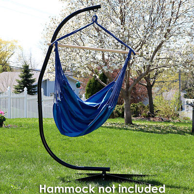 Sunnydaze Durable Steel C Stand for Hanging Hammock Chairs & Swings
