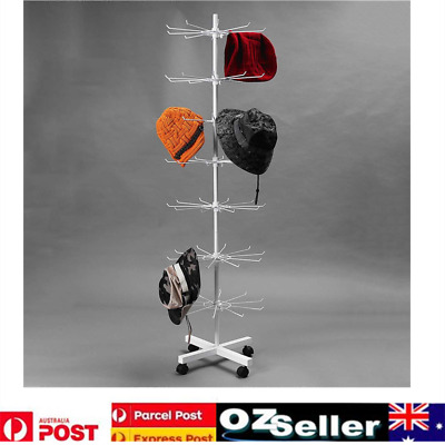 Rotating Iron 7-Tier Revolving Stand Rack Shop Jewelry Keyring Display Hanger AU