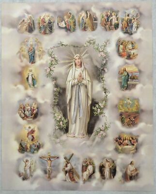 """MYSTERY OF THE ROSARY Religious Print, 10"""" x 8"""" (200mm x 250mm)"""
