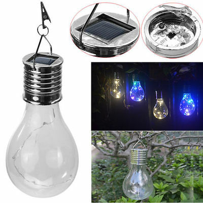 5 LED Solar Rotatable Outdoor Waterproof Garden Camping Hanging Light Lamp Bulb