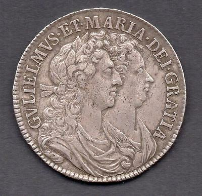 Great Britain William & Mary Silver Halfcrown Dated 1689