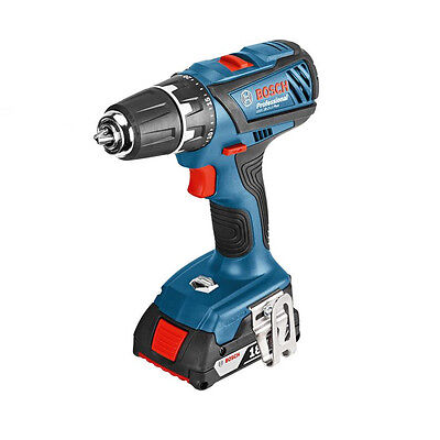 New Bosch GSB 18-2-Li Cordless Combi Drill 2 x 1.5ah Batteries Carry Case (2339)